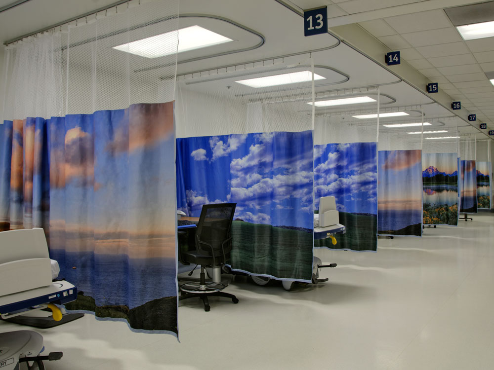 Arrowhead Regional Medical Center - Colton, CA PACU and Pain Clinic after Sereneview curtains have been installed.