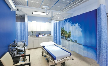 Tropical Breeze curtain, Heathrow Urgent Care - Heathrow, FL