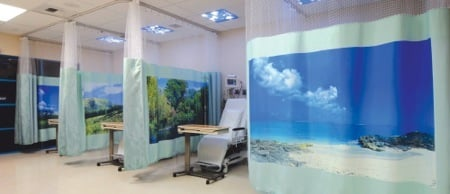 Simi Surgery Center, Recovery with Window Frame style curtains. - Simi Valley, CA